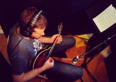 André avec sa mandoline