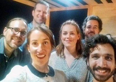 Le groupe avec Jean-Sébastien Dutil, réalisateur et Chrsitian Drouin du Studio C