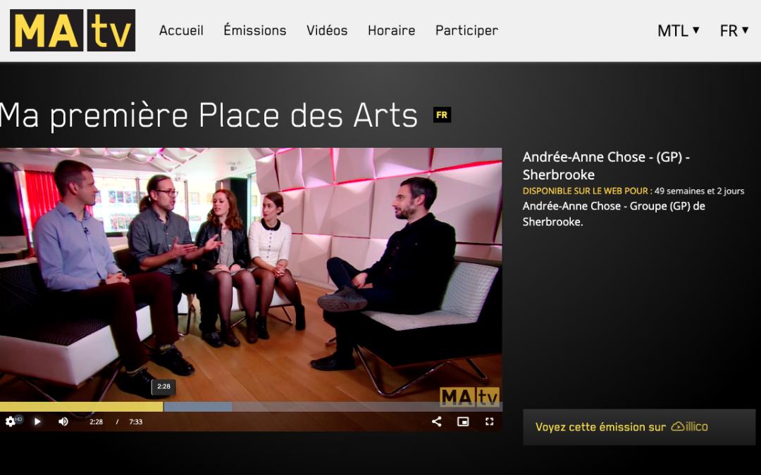 Andrée-Anne Chose dans votre télé!